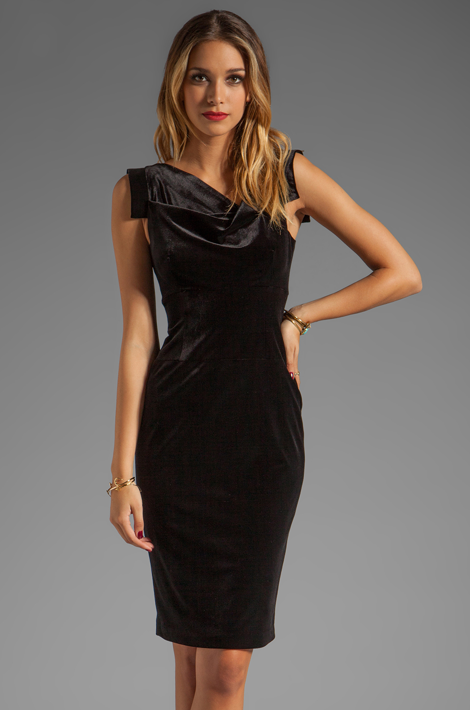 Black Halo Jackie O Dress In Black Velvet In Black Lyst