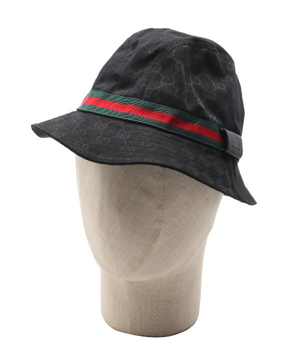 Gucci Black Sima Canvas Stripe Bucket Hat In For Men Lyst deb974285e0