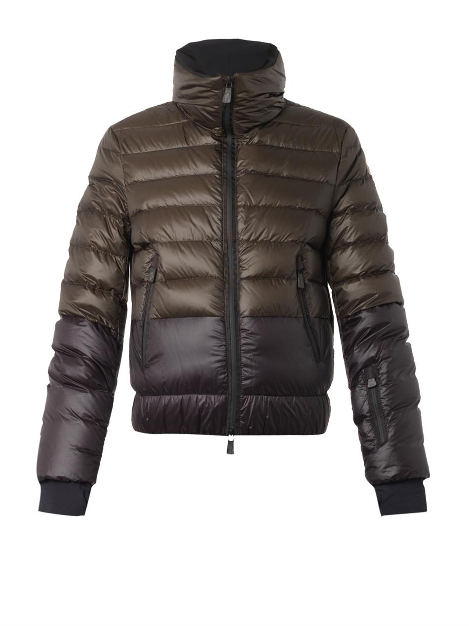 Moncler grenoble Harbiers Bi-Color Quilted Down Jacket in ...