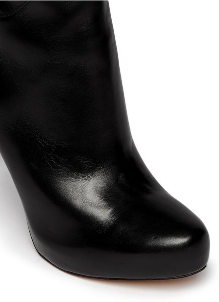 sam edelman thigh high leather boots in black lyst