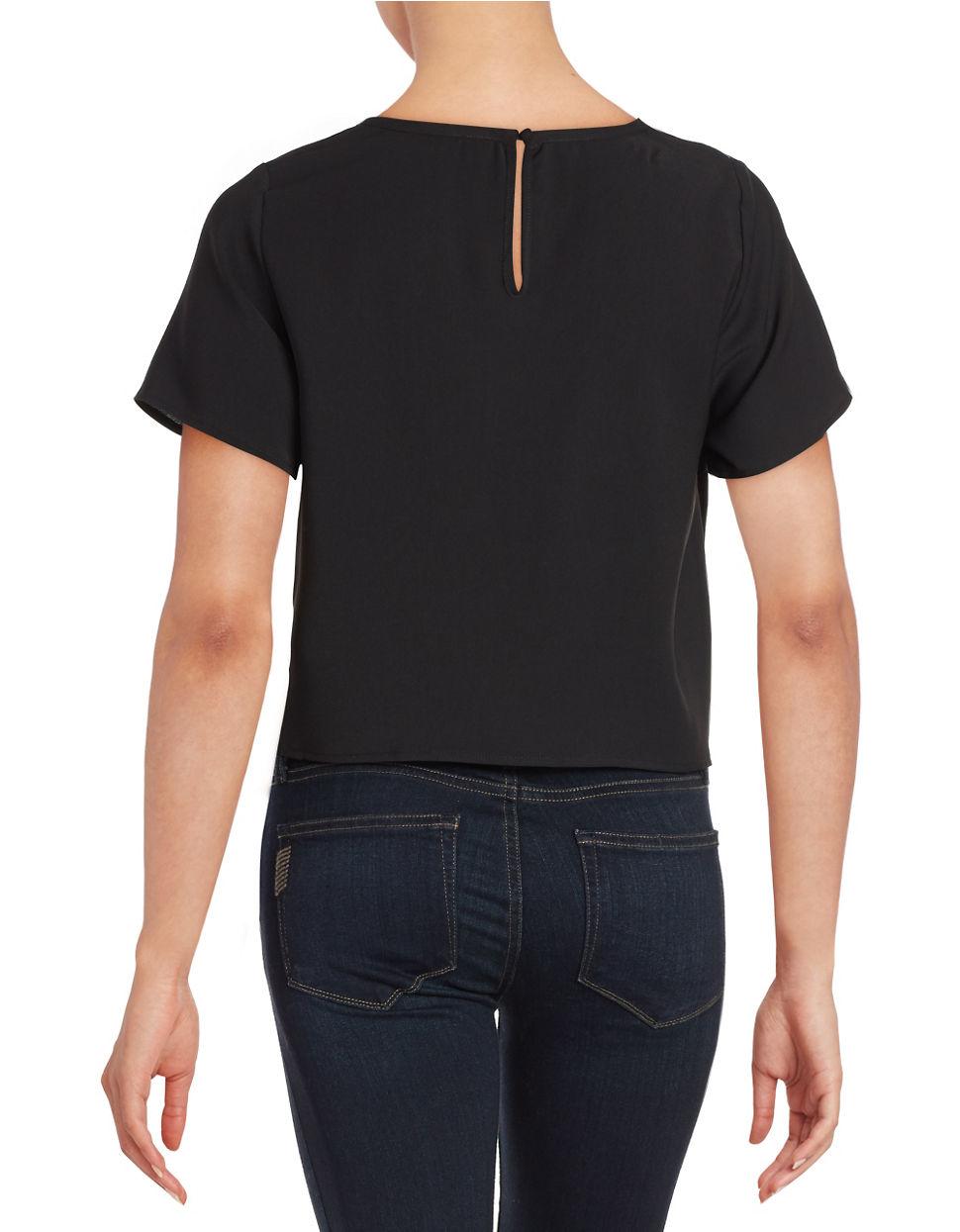 Lord Taylor Mesh Star Shirt In Black Lyst