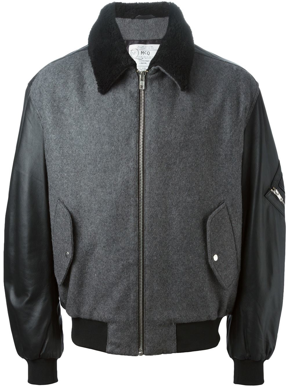 Leather Skin Men Denim Gray Grey Jacket with Black Leather Sleeves Description: Kindly find some of the top features of our products as under. We design the jacket with high attention to its details. With great attention, we make sure every part of the jacket is perfect from stitching to the deep lining.