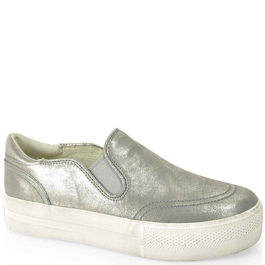 What To Wear With Silver Metallic Slip On Sneaker Shoes