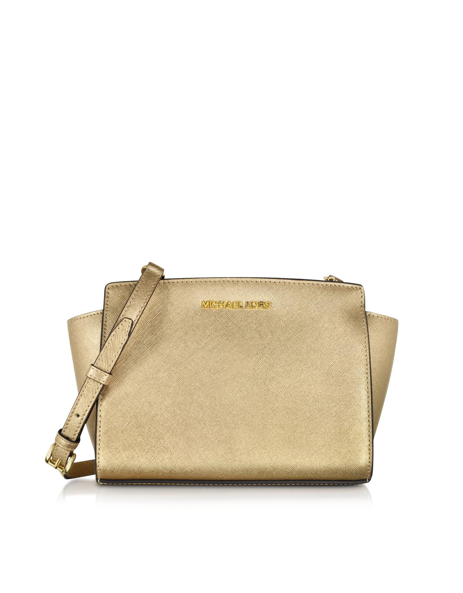 5c5424a7551c8 Lyst - Michael Kors Selma Medium Saffiano-Leather Messenger Bag in ...