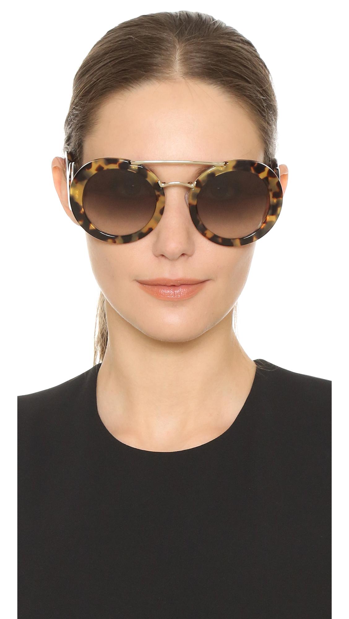 a16a5d99f5045 Lyst - Prada Catwalk Oversized Sunglasses in Gray