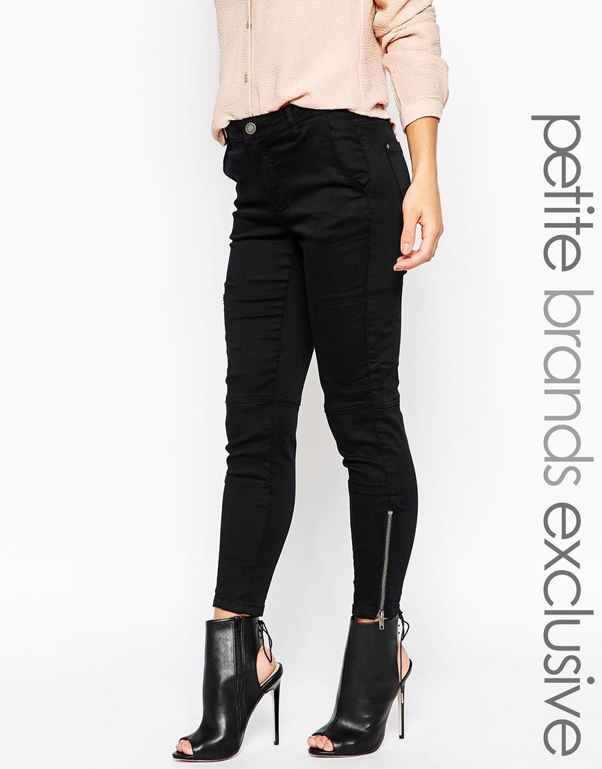 vero moda ankle grazer jean in blue black lyst. Black Bedroom Furniture Sets. Home Design Ideas