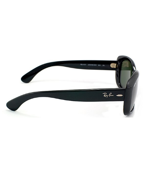 a124bab365f Lyst - Ray-Ban Jackie Ohh Rb 4101 601 Black Rectangle Plastic ...