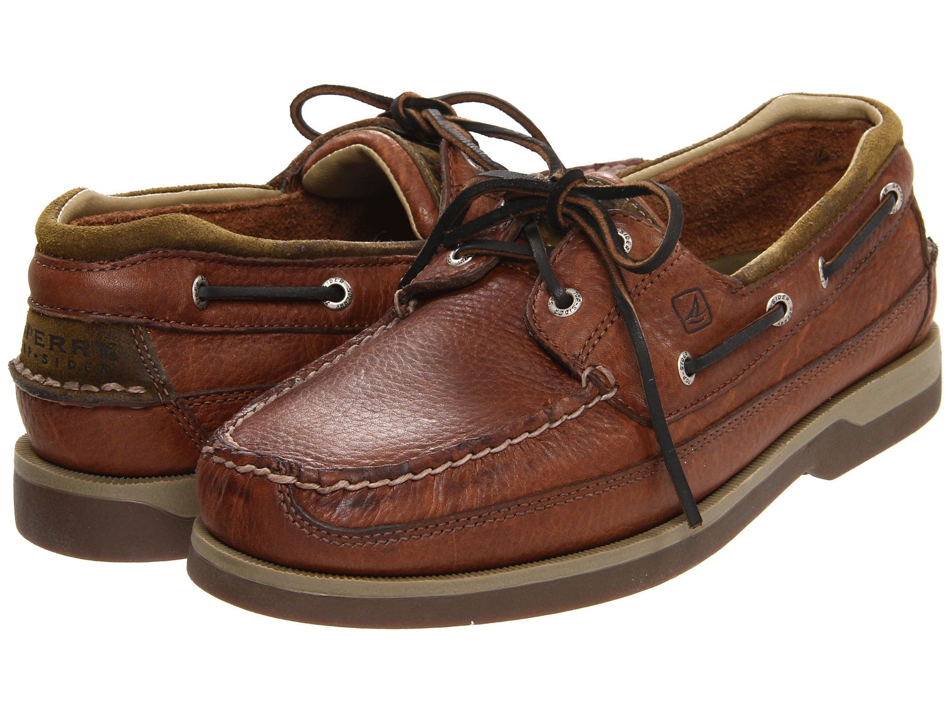 Sperry Top Sider Mako 2 Eye Canoe Moc In Brown For Men Lyst
