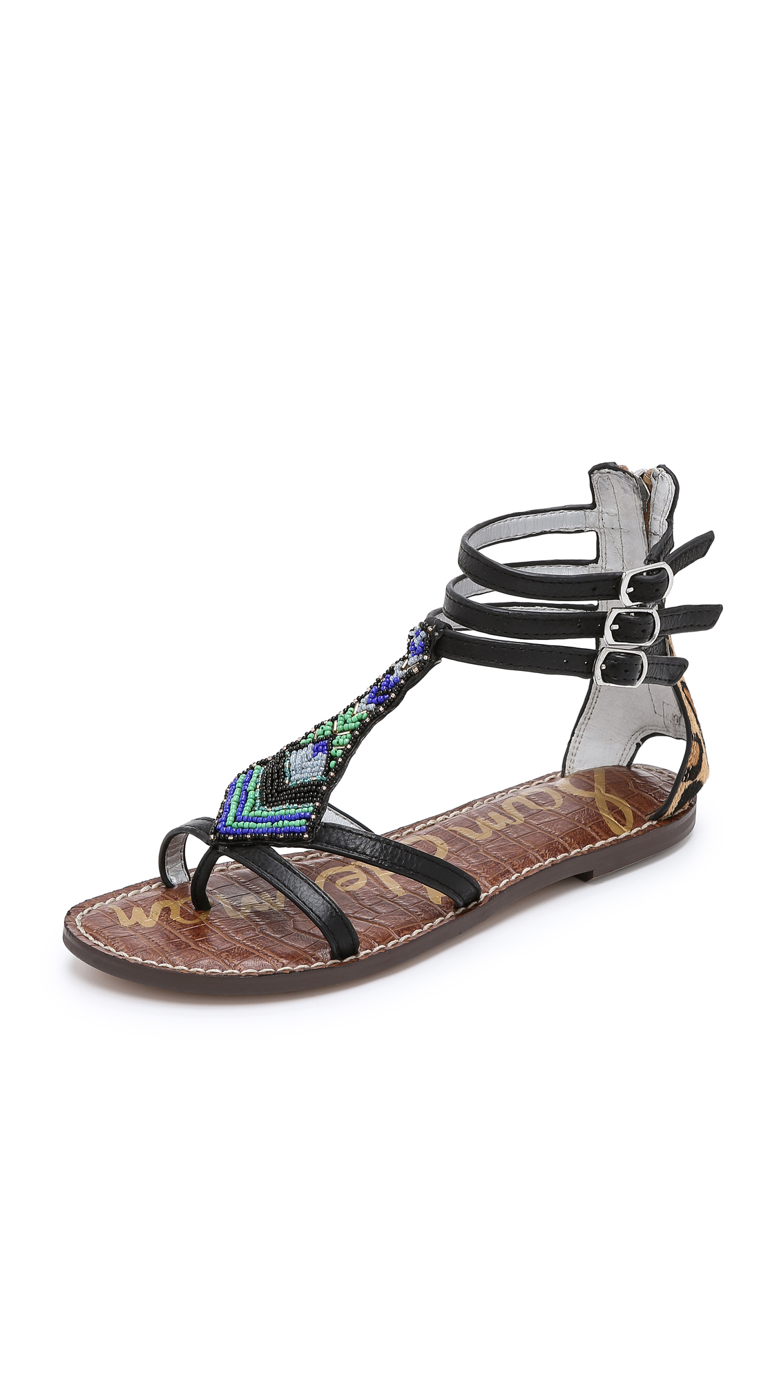 183eaa5fb859eb Lyst - Sam Edelman Giselle Beaded Sandals - Black new Nude Leopard