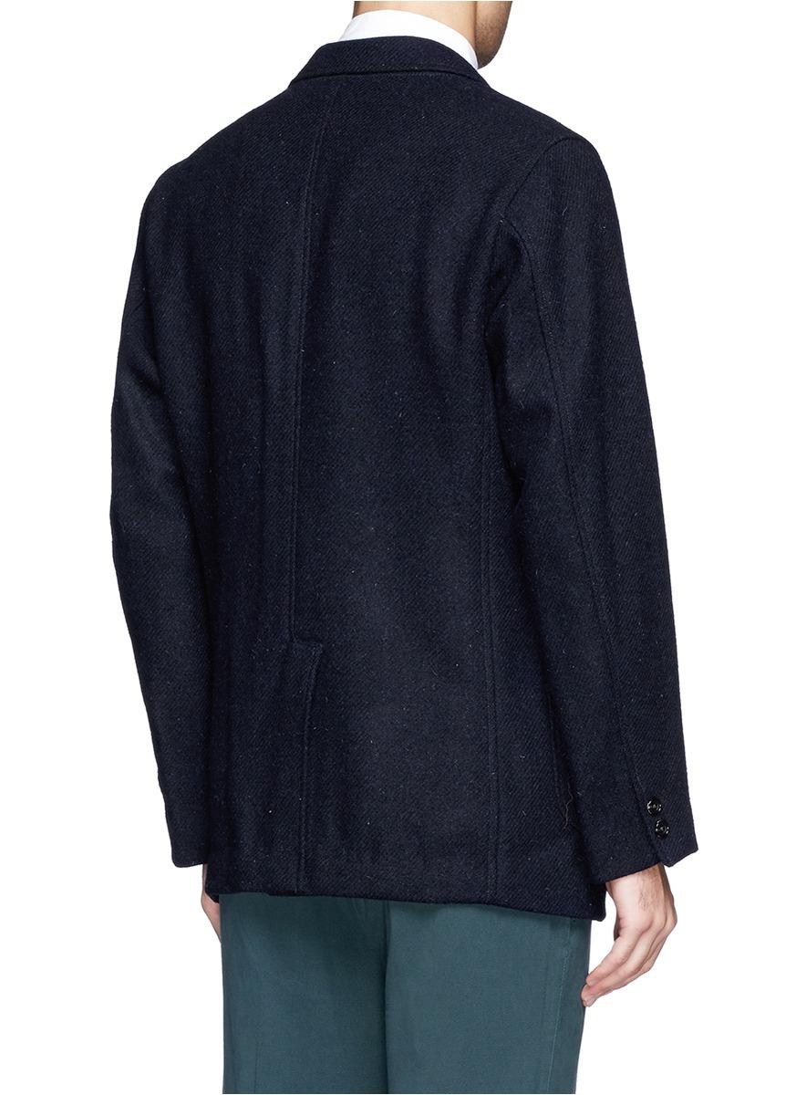 aea7ddc39e03 Lyst - Beams Plus Harris Tweed Blazer in Blue for Men