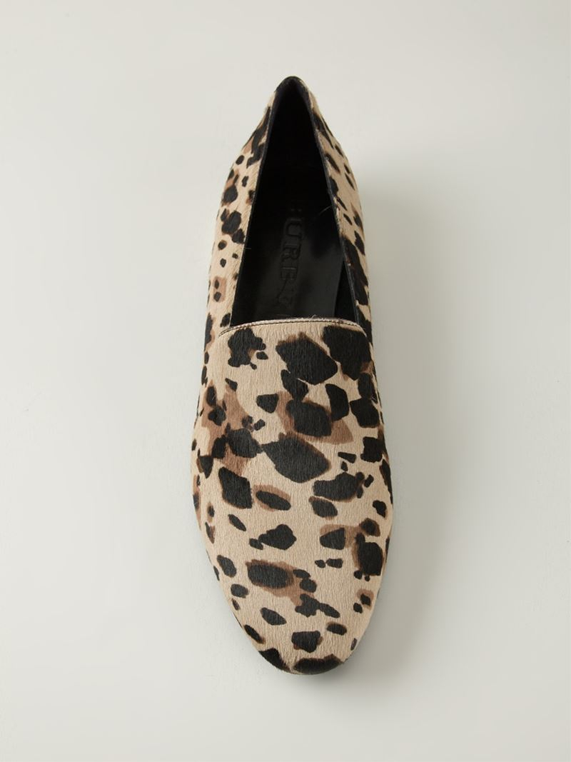 cca08f1d005 Lyst - Burberry Animal Print Slippers in Natural