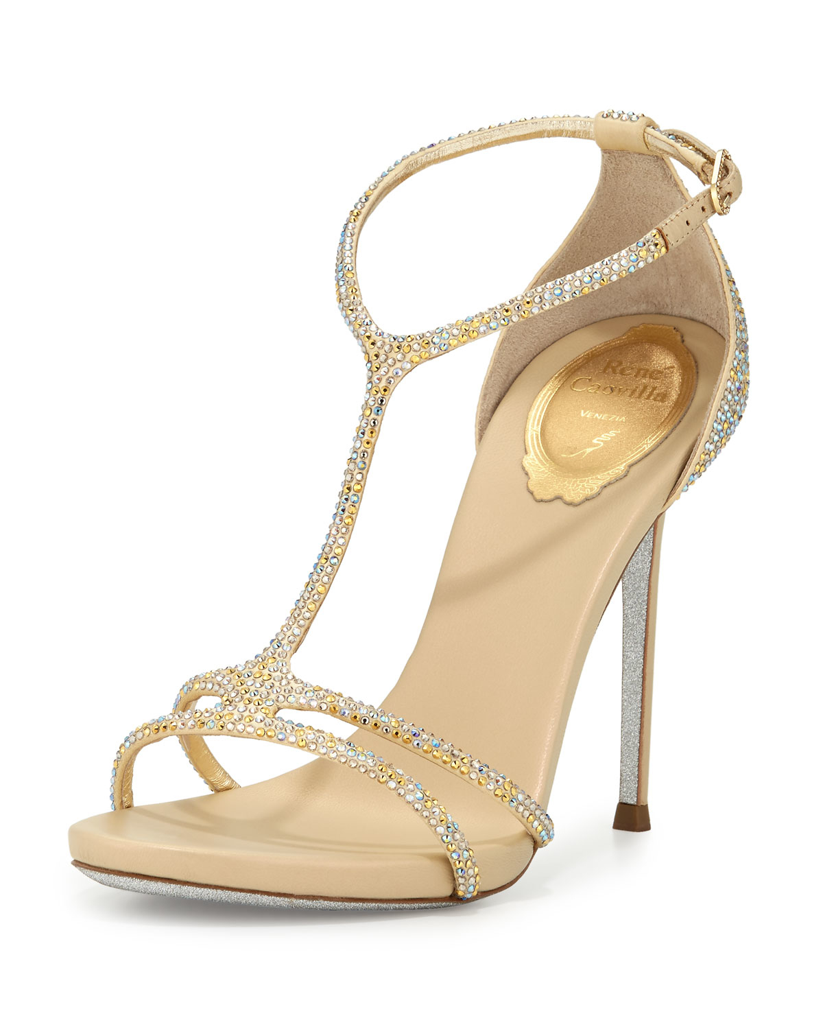 René Caovilla strappy embellished sandals discount collections RfNY5