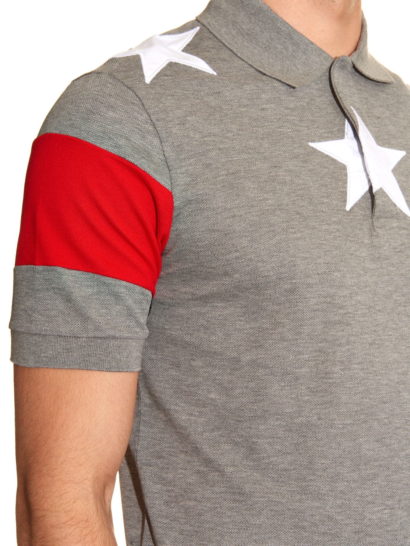 d6da683d Givenchy Cuban-Fit Star-Embroidered Polo Shirt in Gray for Men - Lyst