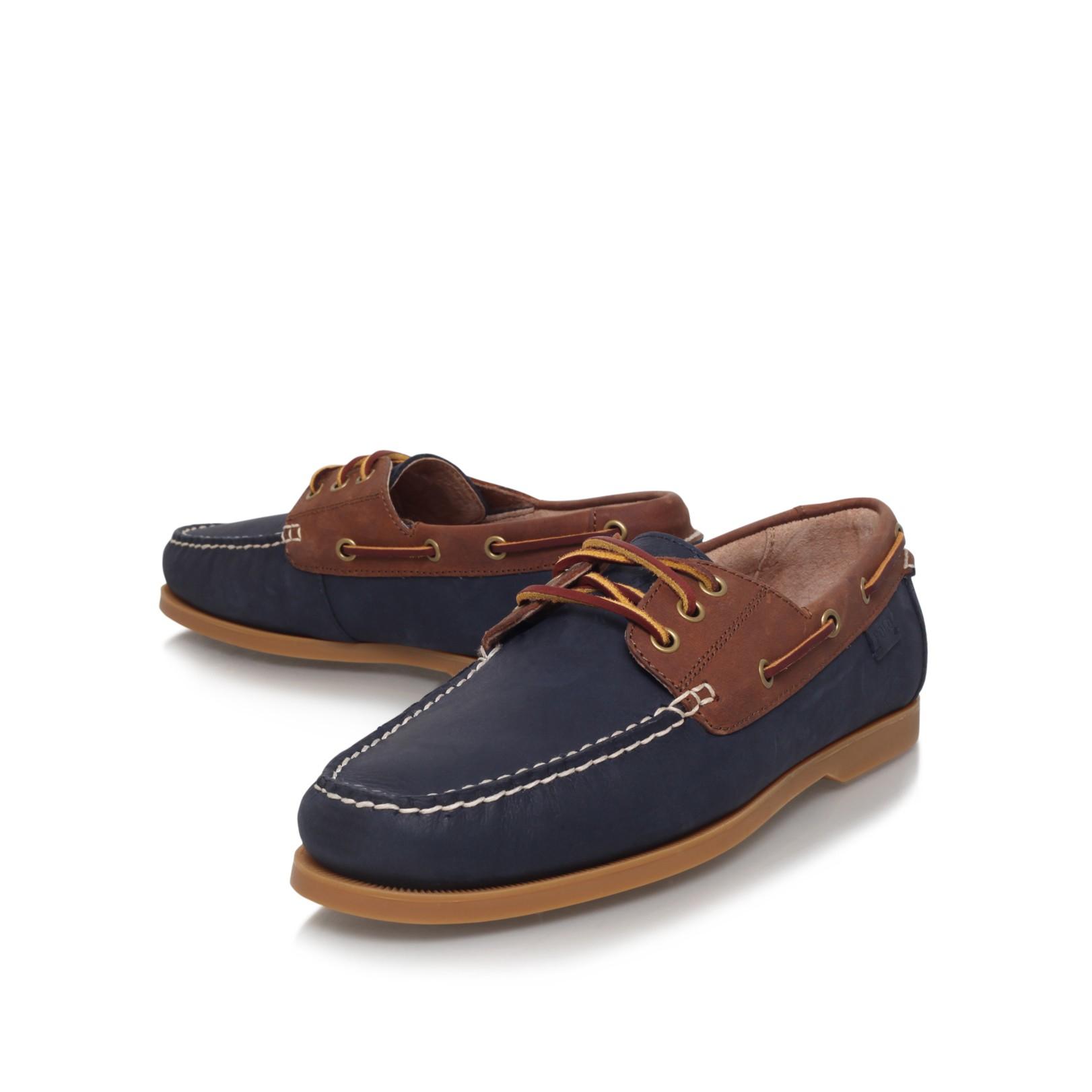polo ralph bienne ii boat shoe in blue for lyst