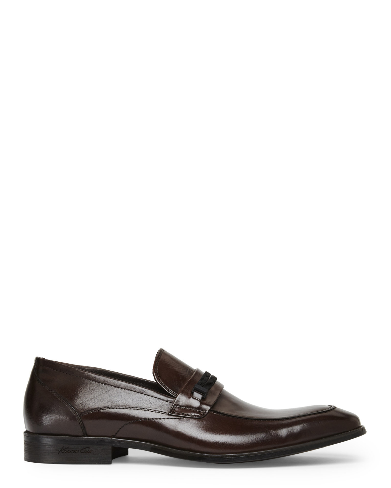 kenneth cole brown chair slip on shoes in black for
