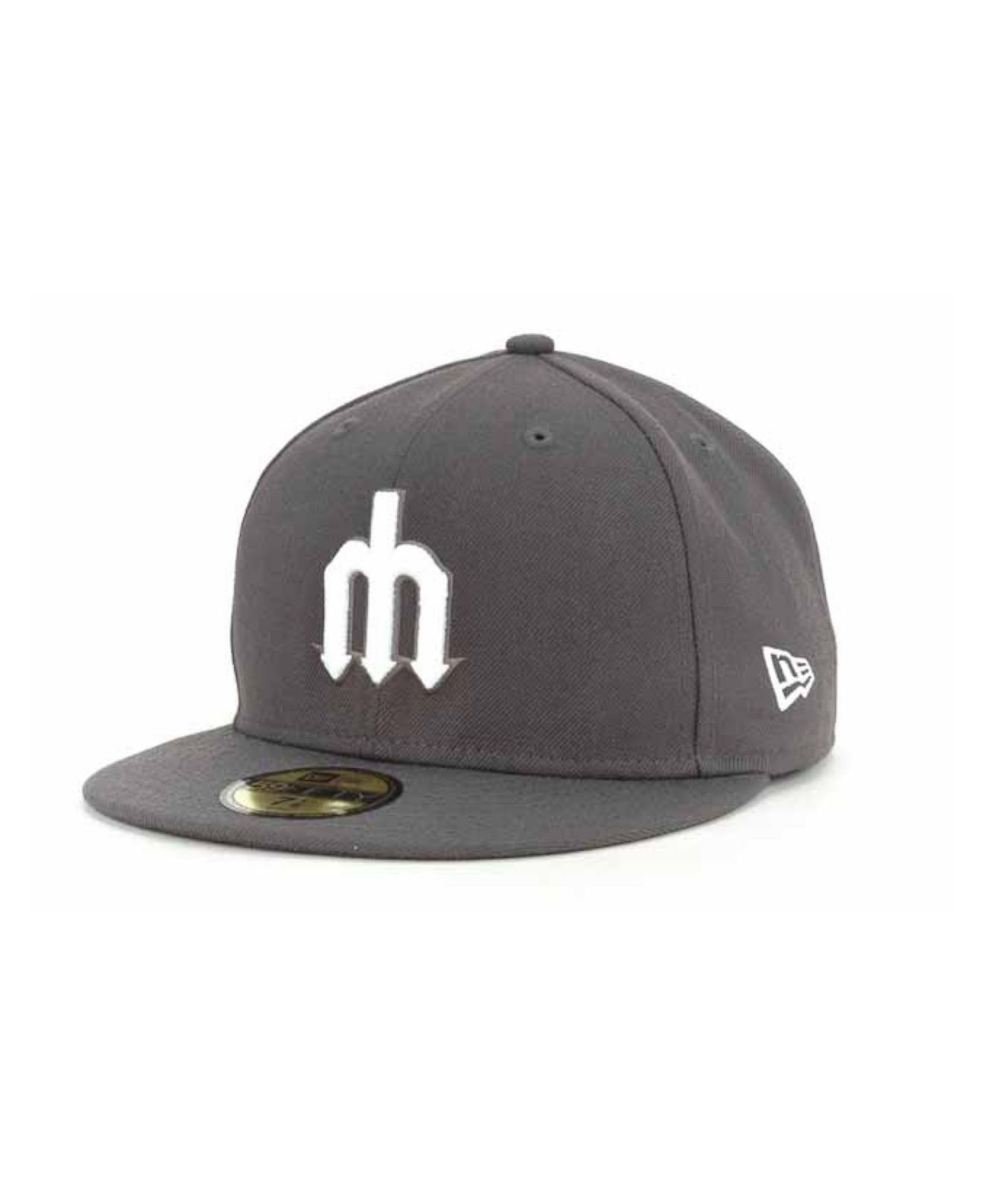 promo code 73b20 3783a KTZ Seattle Mariners C-Dub 59Fifty Cap in Gray for Men - Lyst