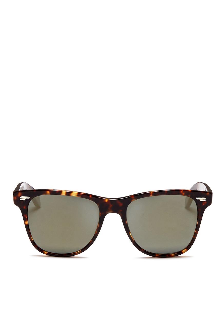 c4fd5210152 Lyst - Oliver Peoples  lou  Tortoiseshell Acetate Polarised Sunglasses