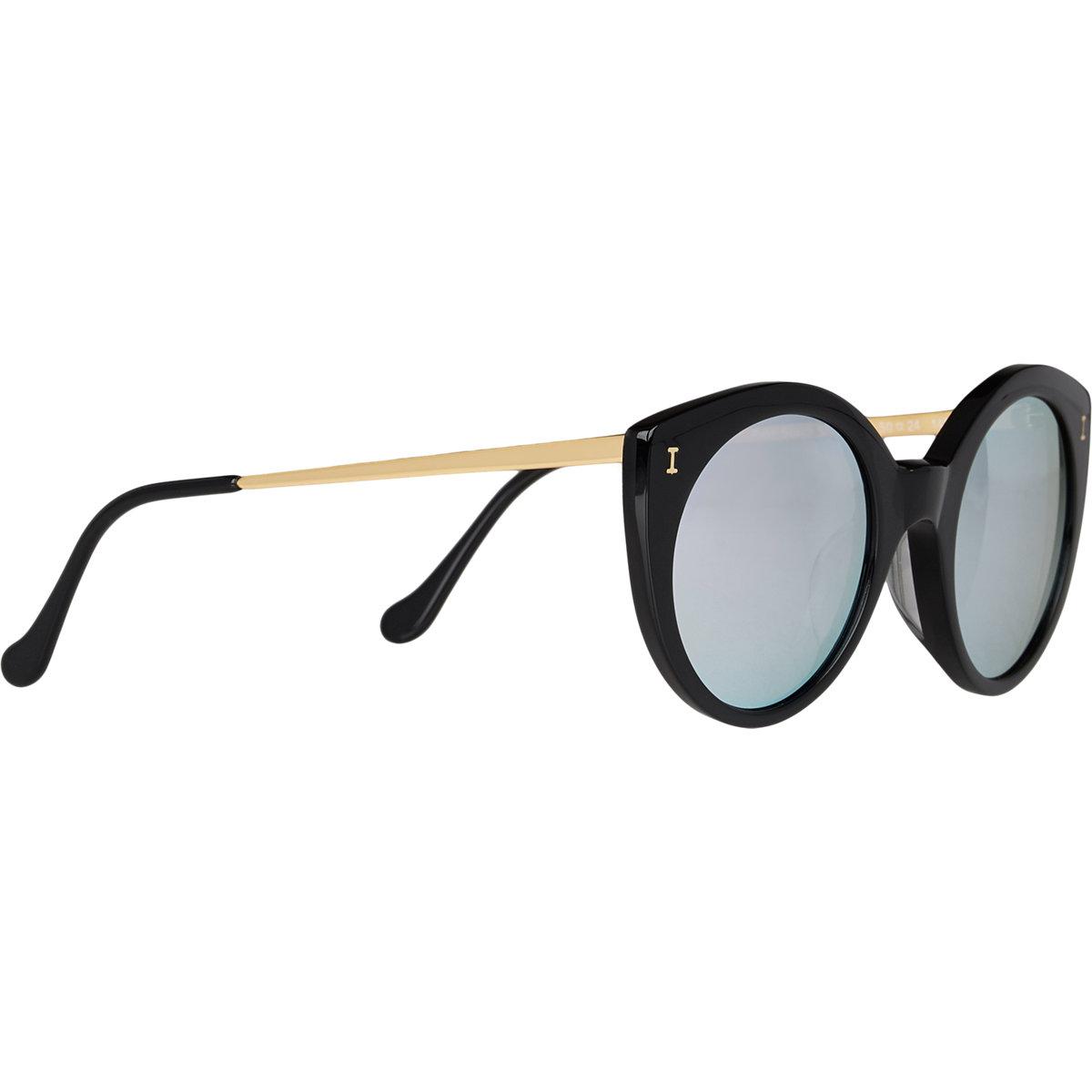 Illesteva women 39 s palm beach mirrored sunglasses in gold for Mirror sunglasses