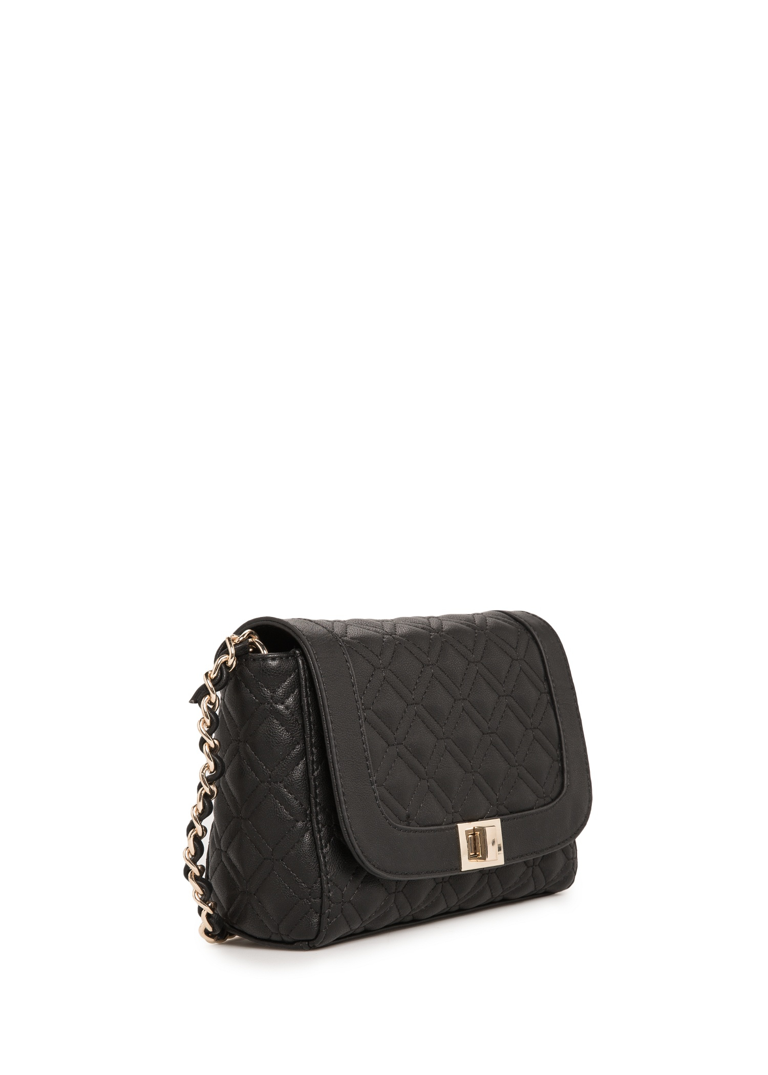 Lyst Mango Quilted Cross Body Bag In Black