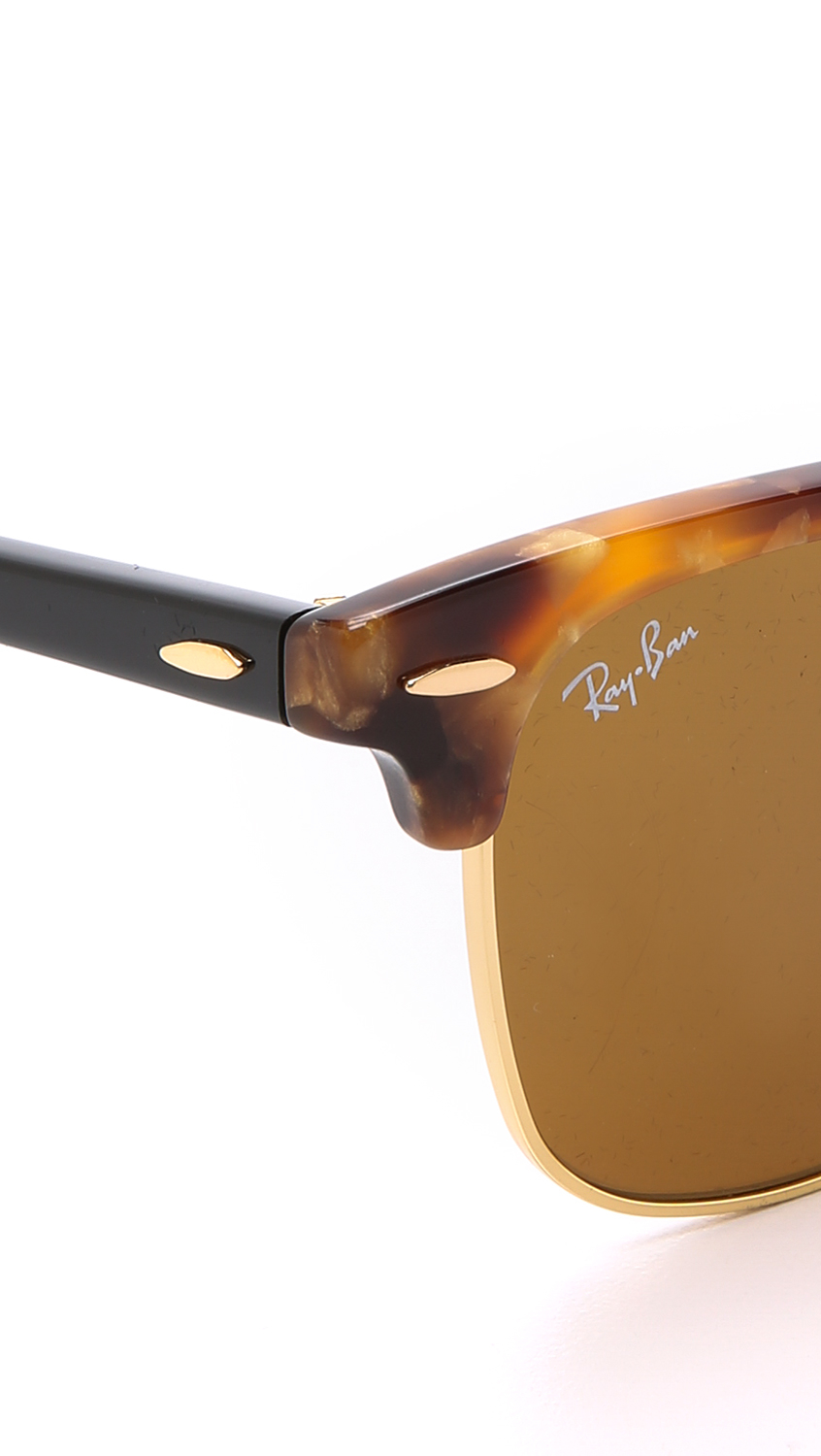 ray ban havana clubmaster  Ray-ban Spotted Clubmaster Sunglasses in Brown for Men