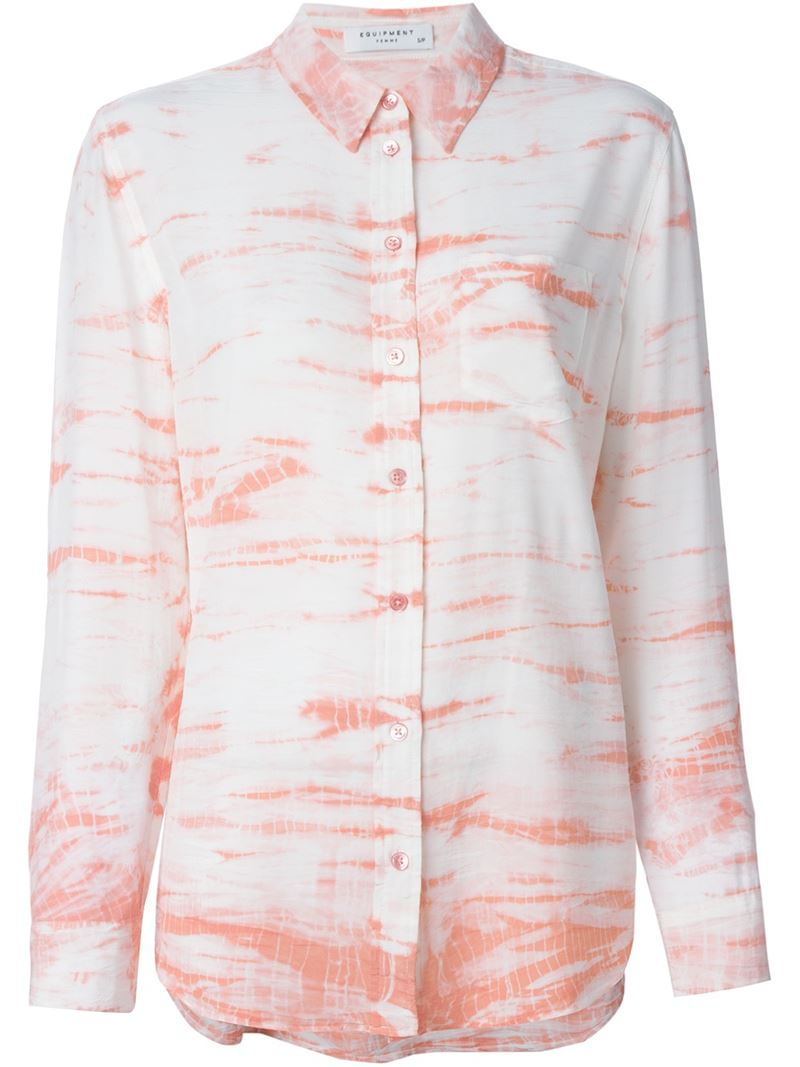 Equipment Tie Dye Print Shirt In Pink Lyst