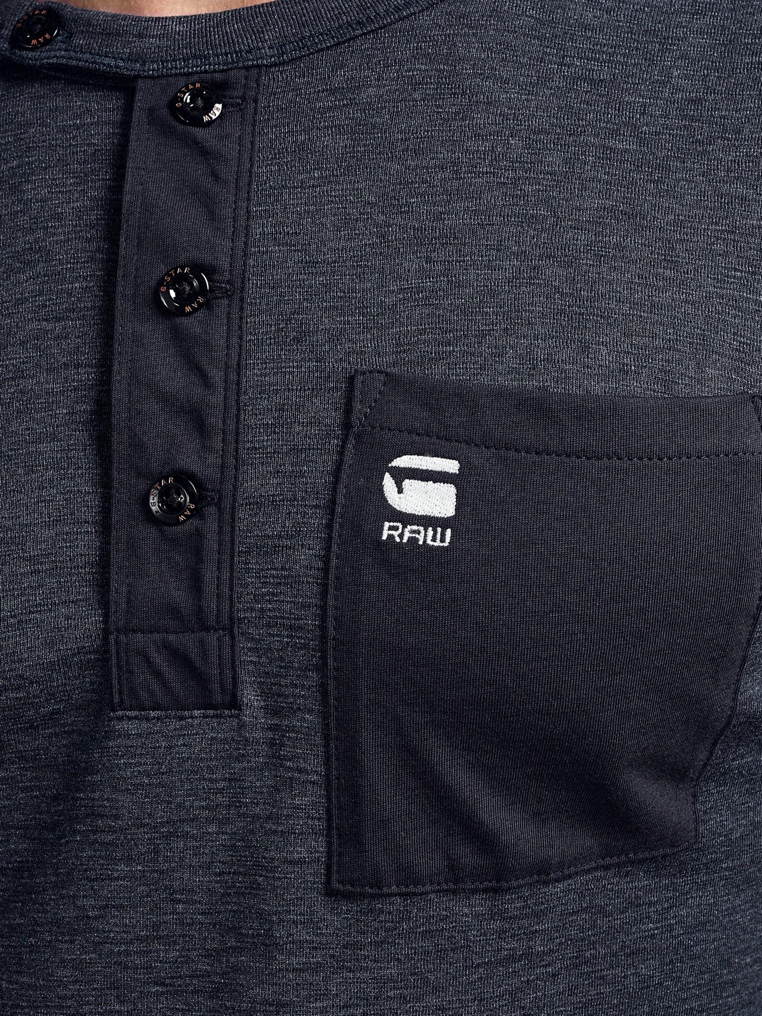 71047b134b G-Star RAW Mazuren Slim Grandad Long Sleeve T-shirt in Blue for Men ...