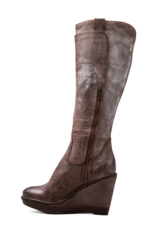 frye wedge boot in brown in brown lyst