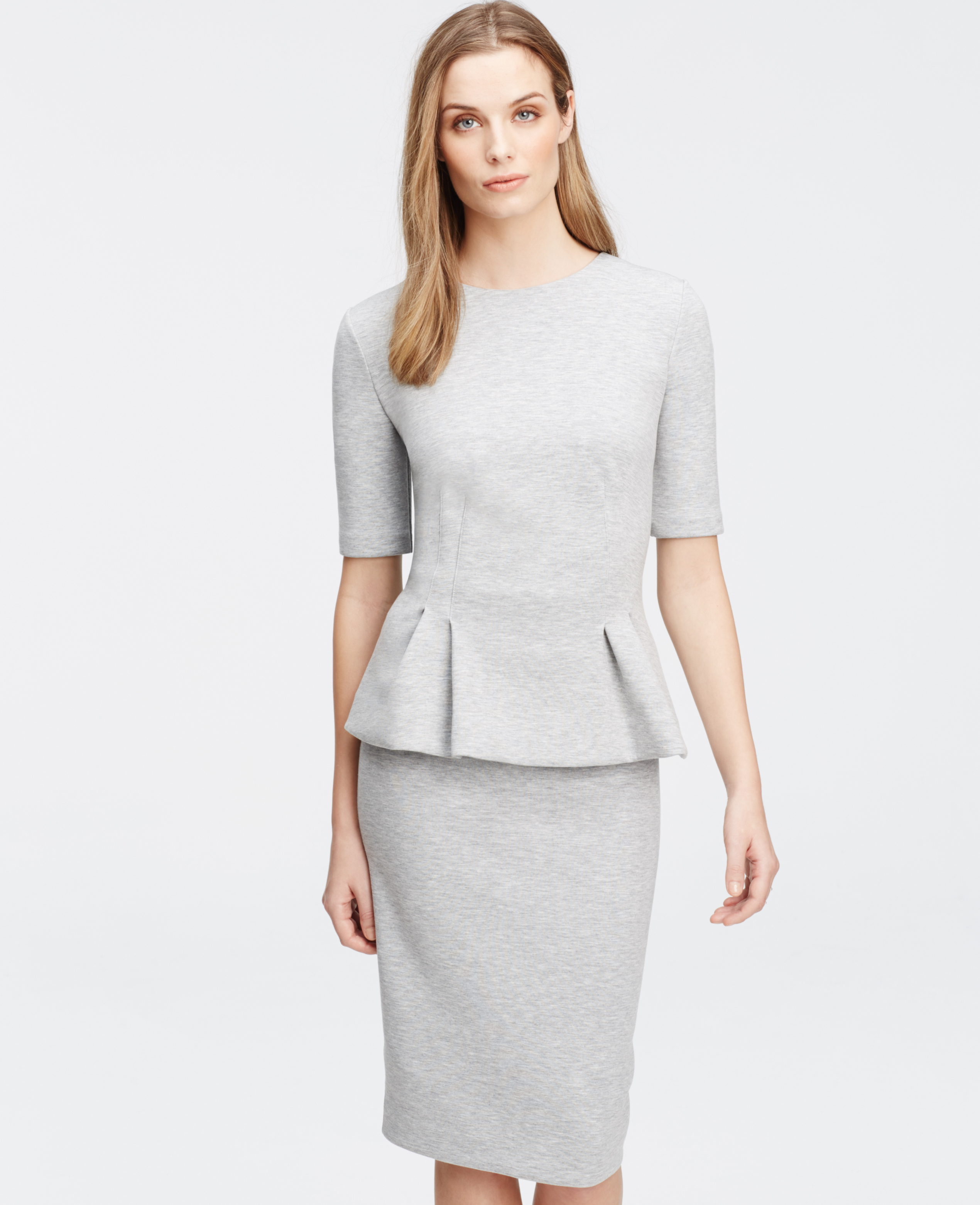 Ann taylor Petite Structured Peplum Short Sleeve Top in ...