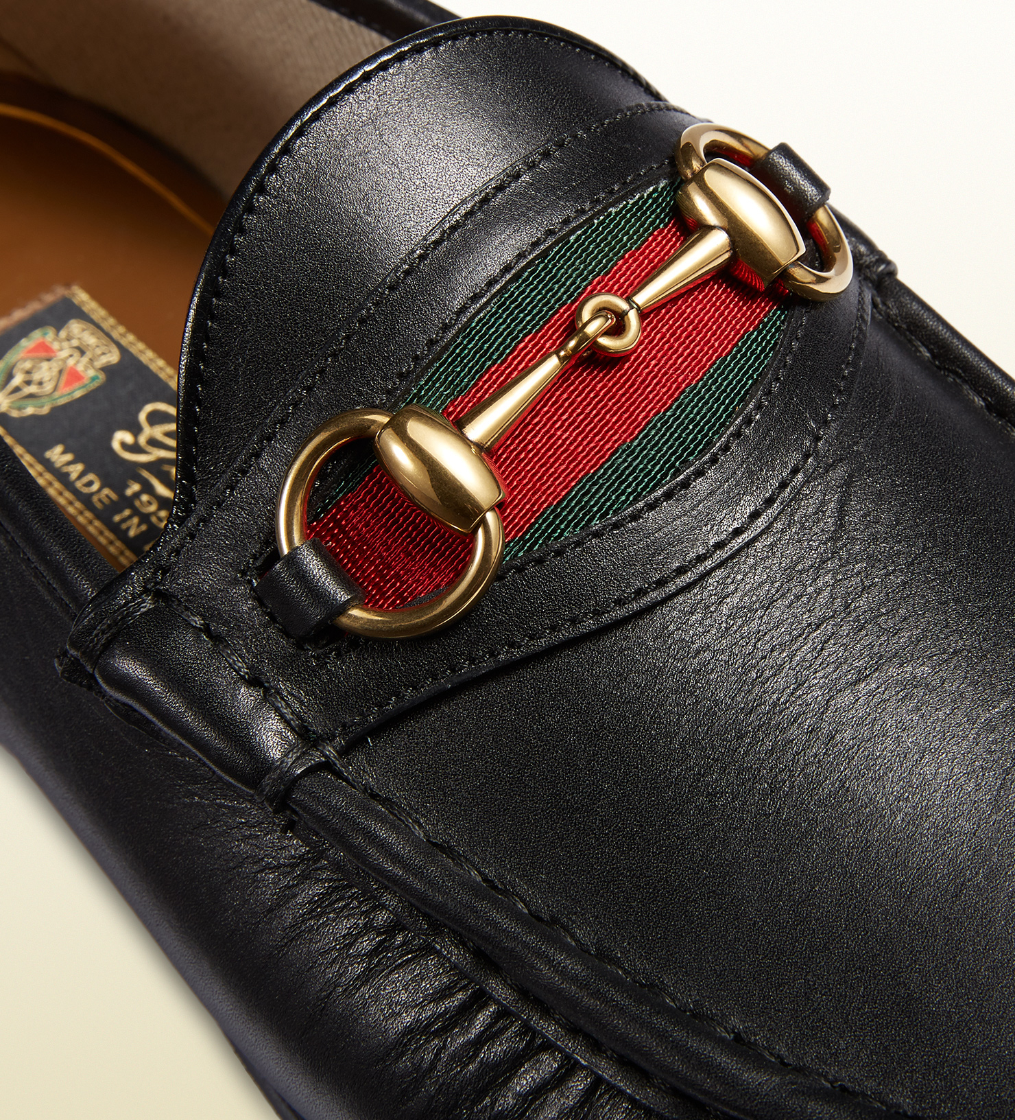 83eb2e79fb7 Lyst - Gucci Men s Leather Horsebit Loafer in Black for Men