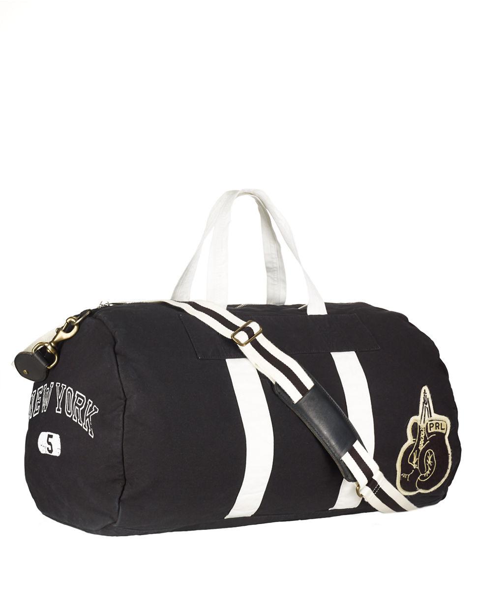 Polo Ralph Lauren Canvas Boxing Duffel Bag in Black for Men - Lyst b930a98f07a19