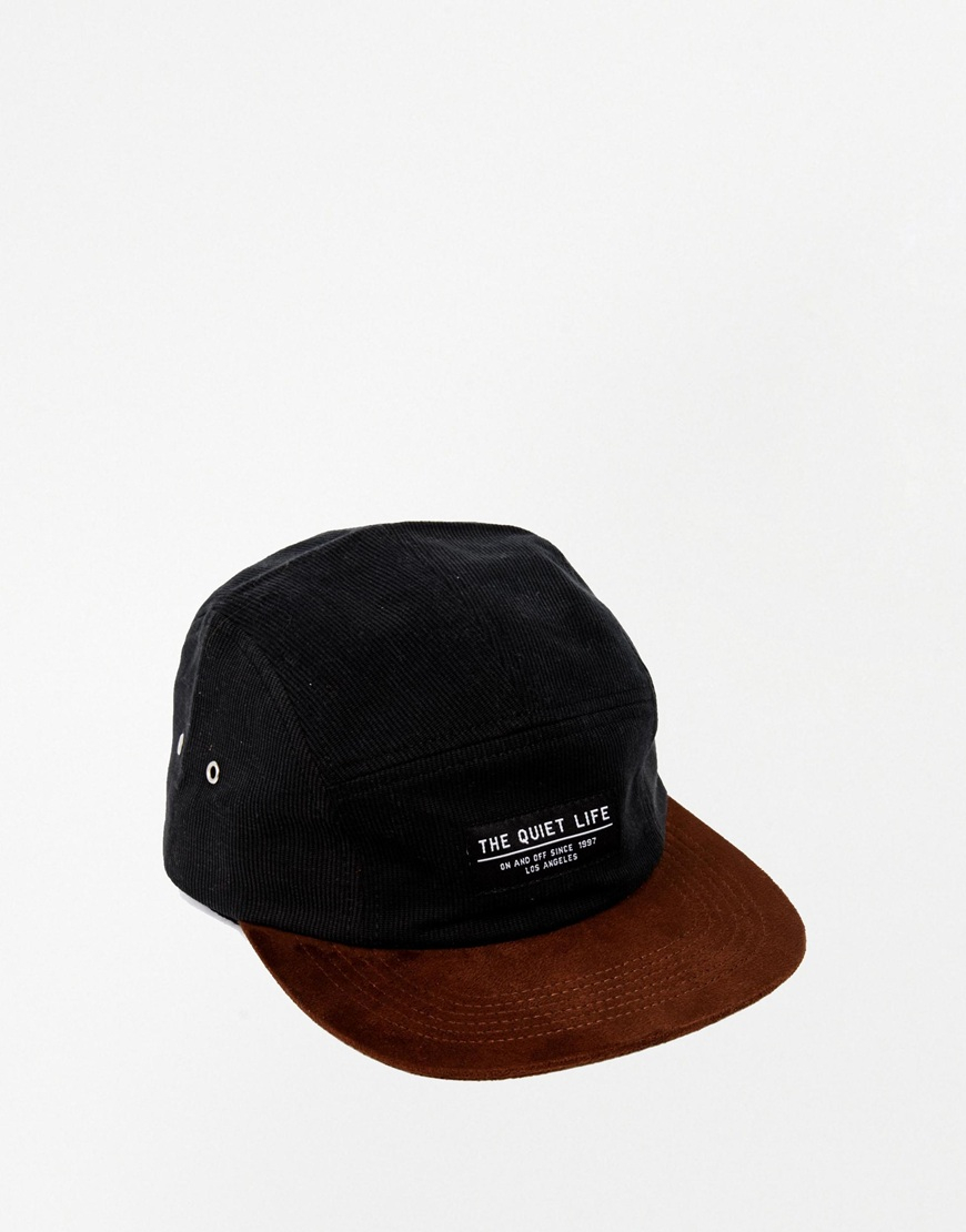 c68086a9bf0 Lyst - The Quiet Life Cord 5 Panel Cap in Black for Men
