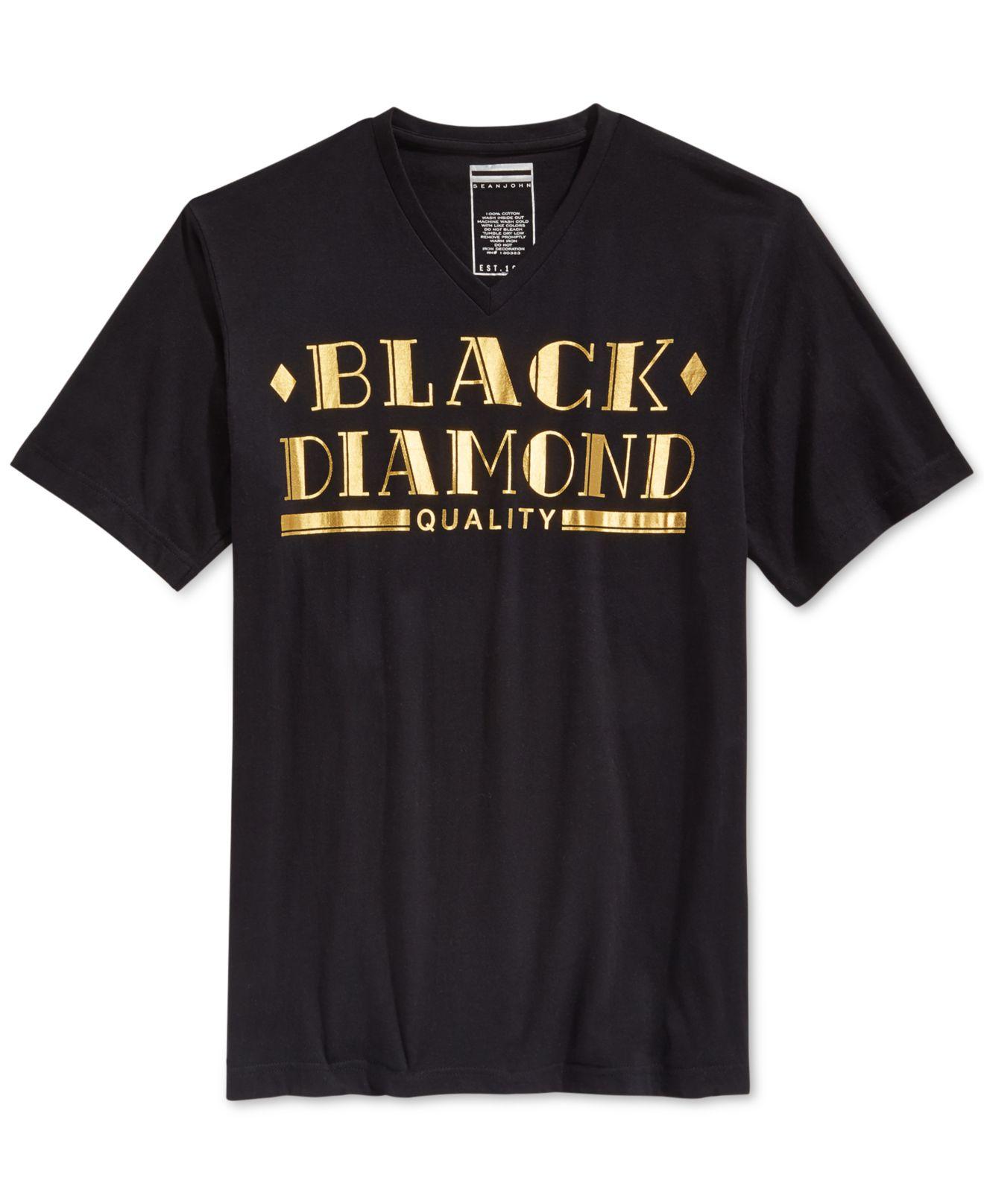 Lyst sean john men 39 s black diamond t shirt in black for men for Sean john t shirts for mens