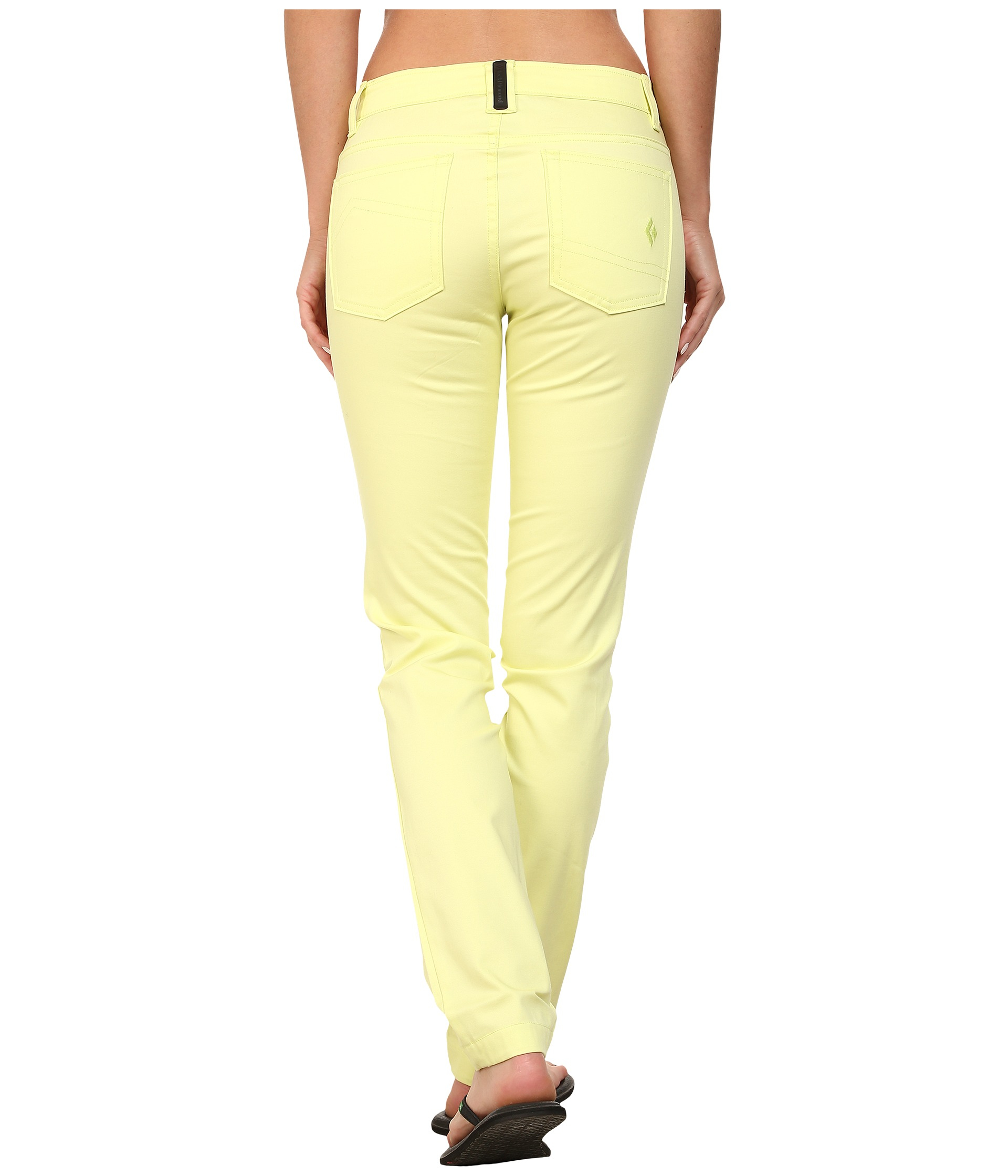 3ed7eea7193a1d Black Diamond Stretch Font Pants in Yellow - Lyst