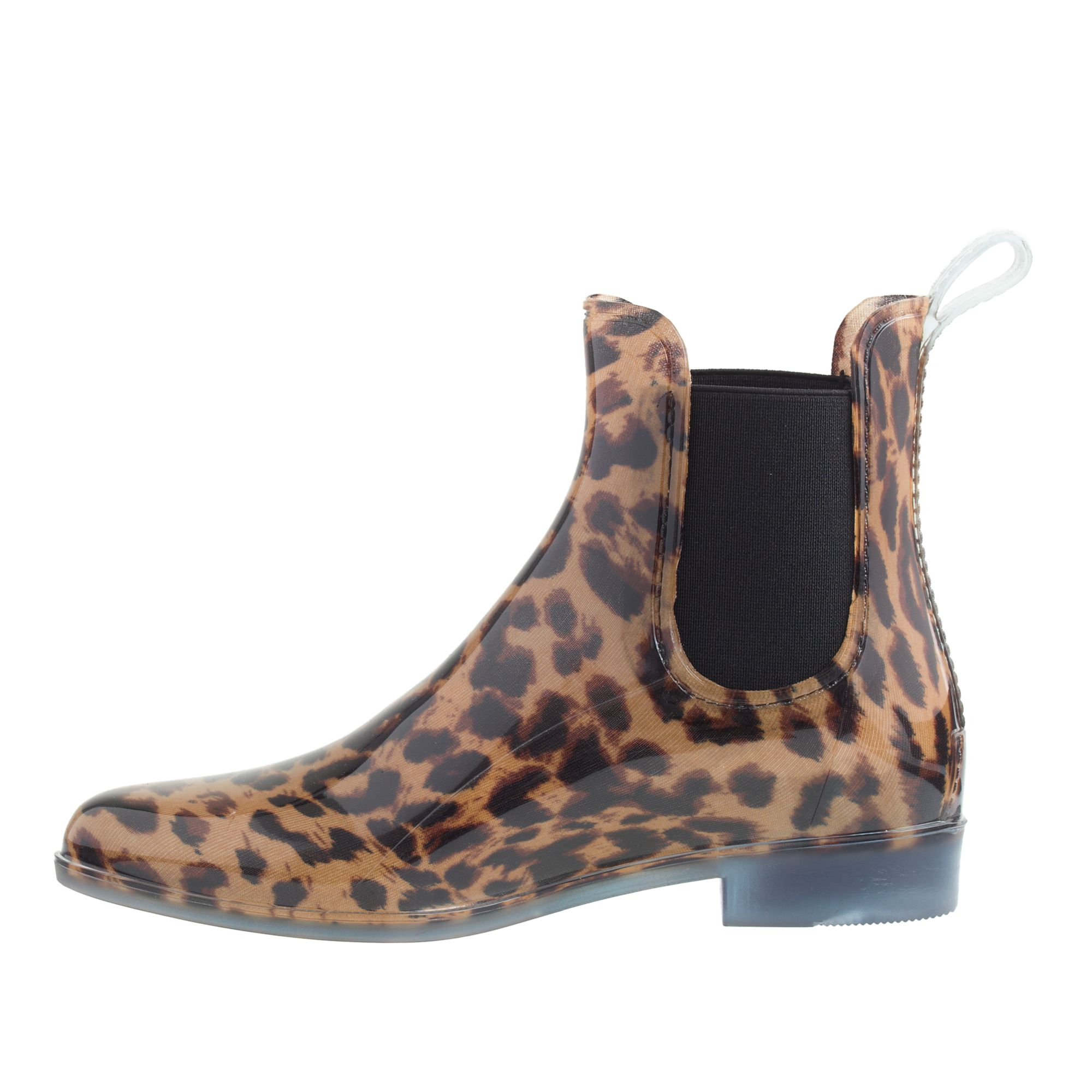j crew chelsea leopard boots in animal classic