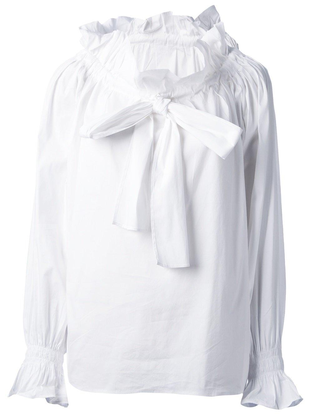 a8b41c434b69d Source · Lyst Tsumori Chisato Ruffle Neck Blouse in White
