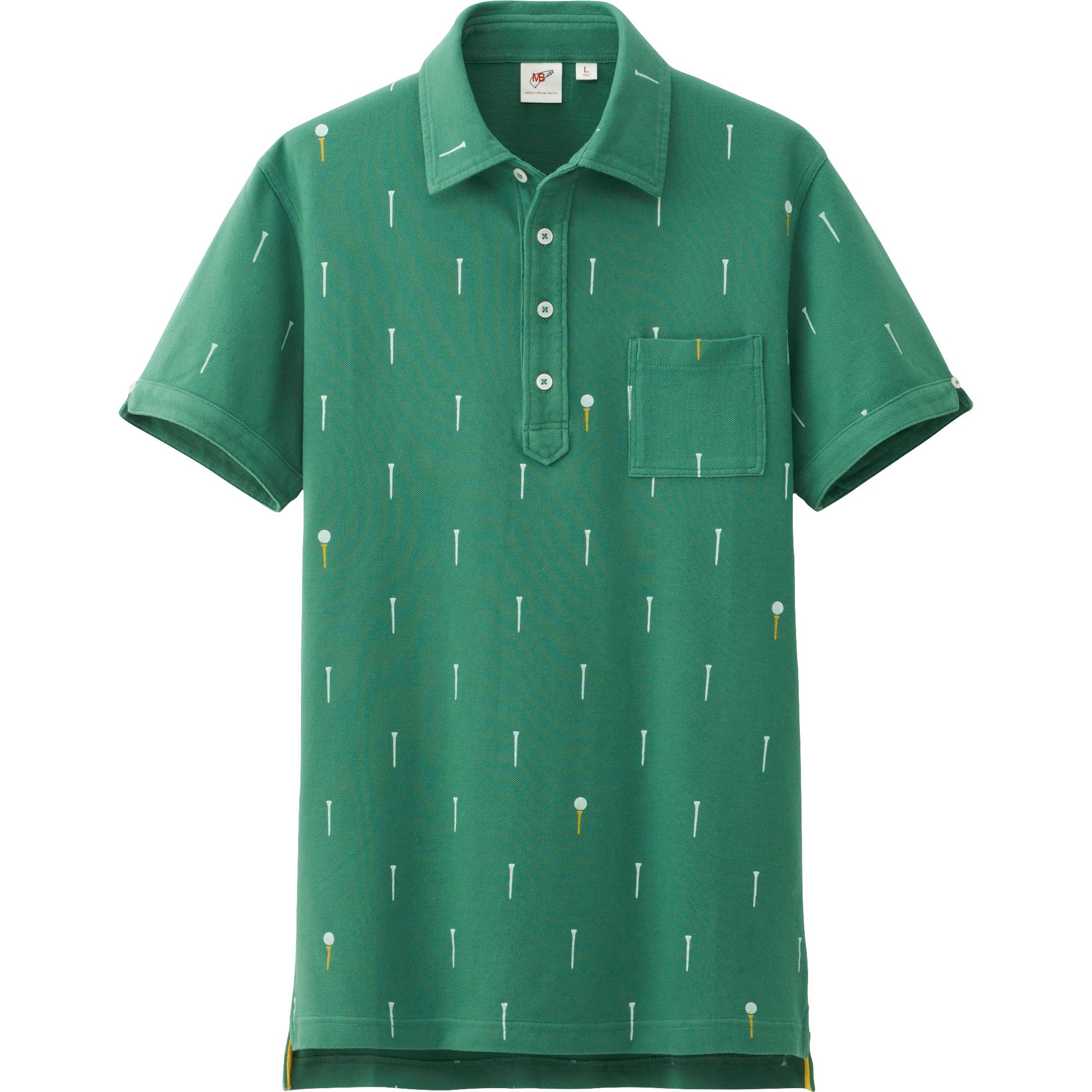 Uniqlo Men Washed Short Sleeve Polo Shirt By Mb In Green