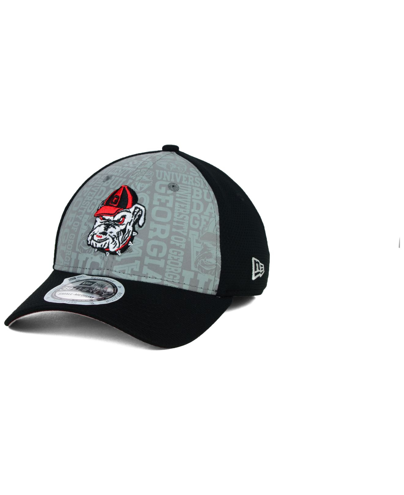 Georgia Bulldog Fitted Hats: Ktz Georgia Bulldogs Reflective Training 39thirty Cap In