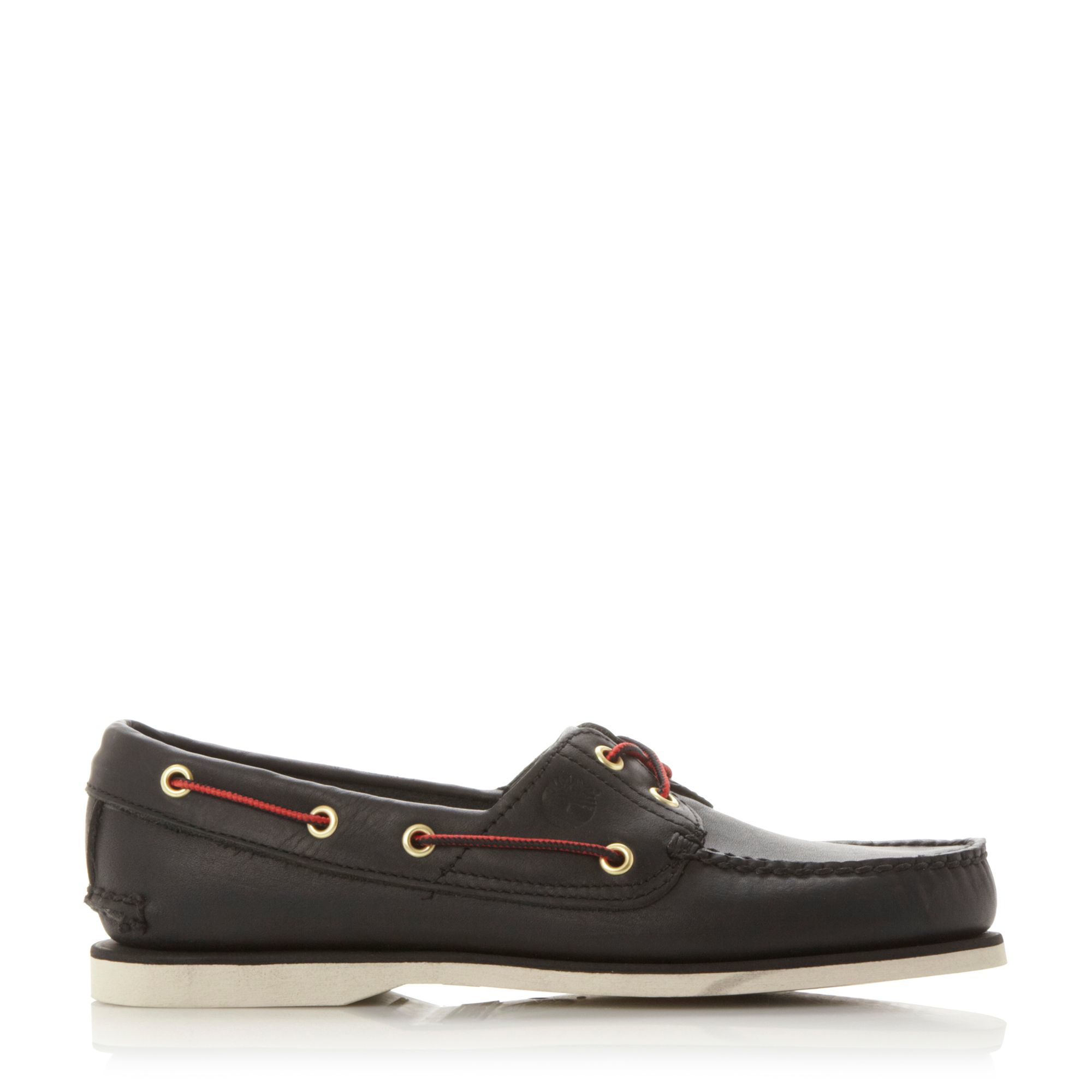 timberland 1005r classic boat shoes in black for