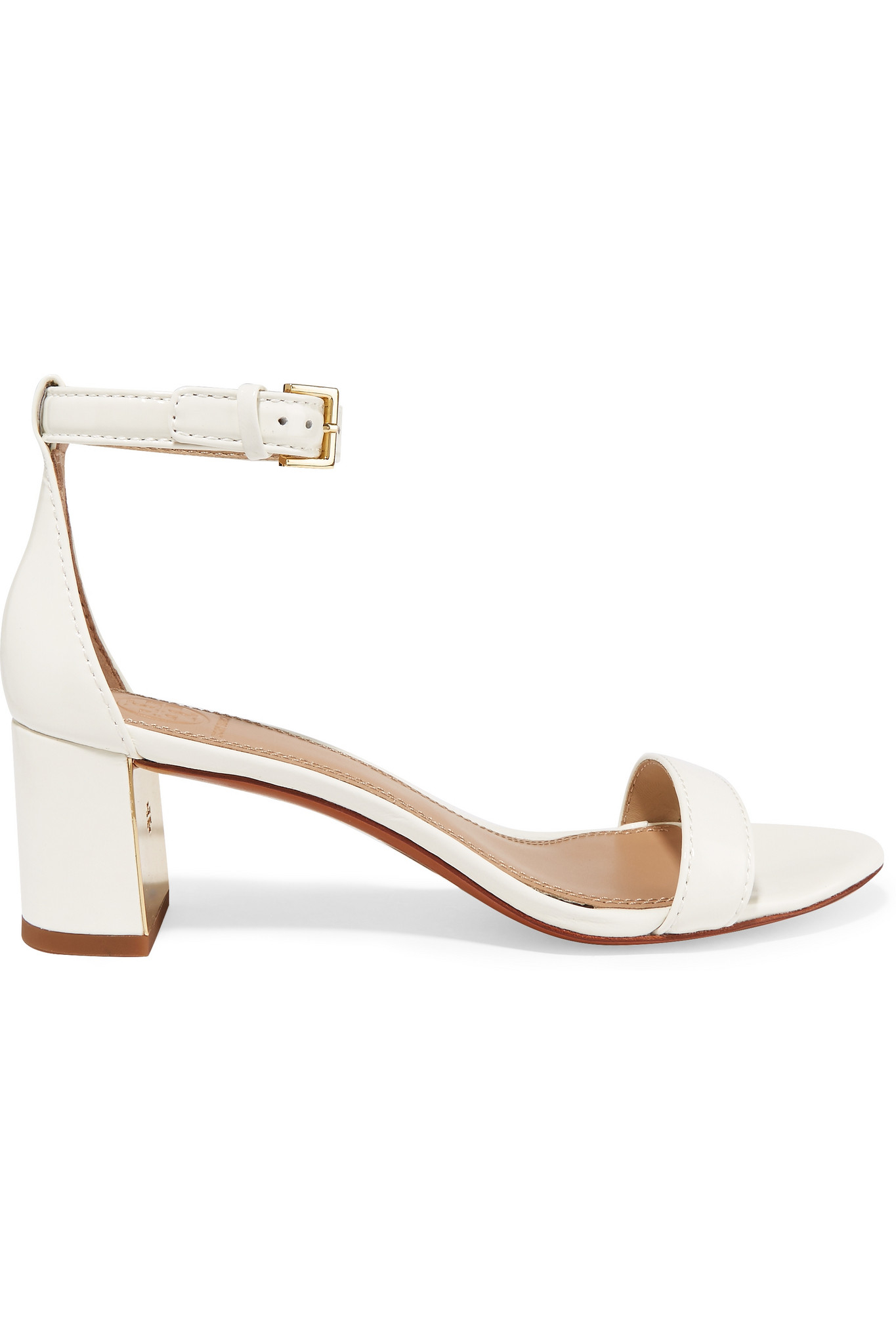 de23329f46b7 Tory Burch - Cecile Patent-leather Sandals - Ivory in White - Lyst