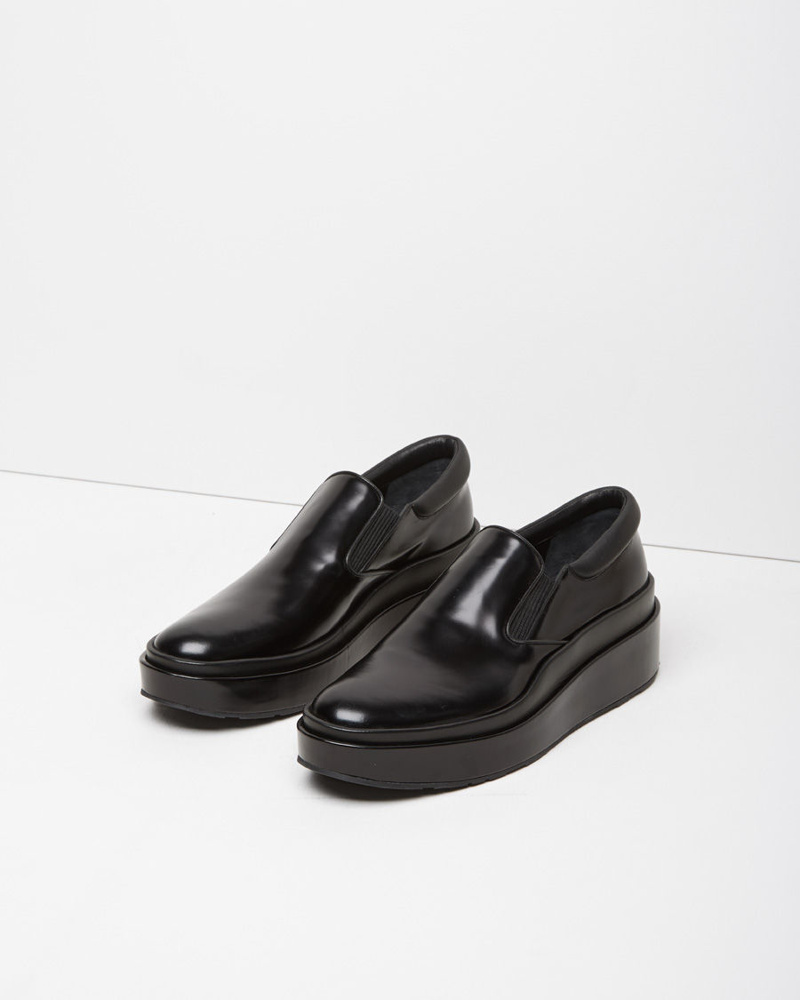 Jil Sander Slip-on Platform Shoe In Black | Lyst