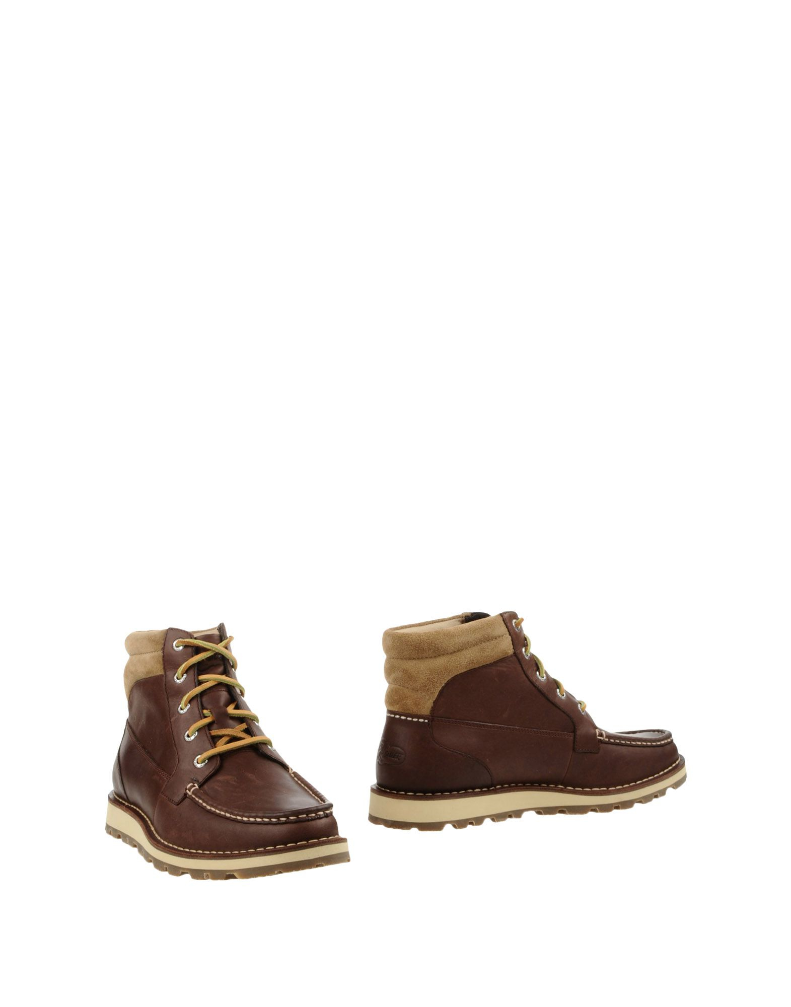 sperry top sider two toned leather ankle boots in brown