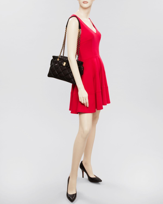 db298d0969df Lyst - Ferragamo Shoulder Bag - Medium Ginette Quilted in Black