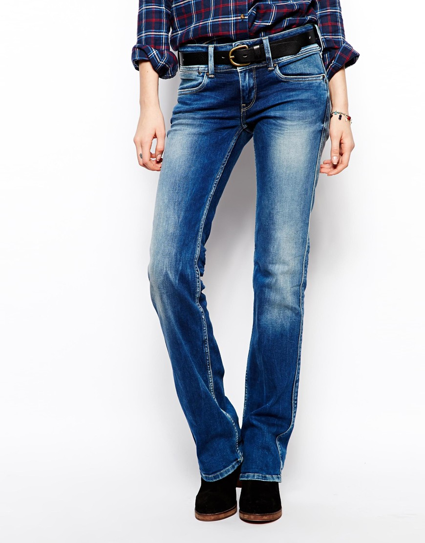 Pepe jeans Grace Bootcut Jeans in Blue | Lyst