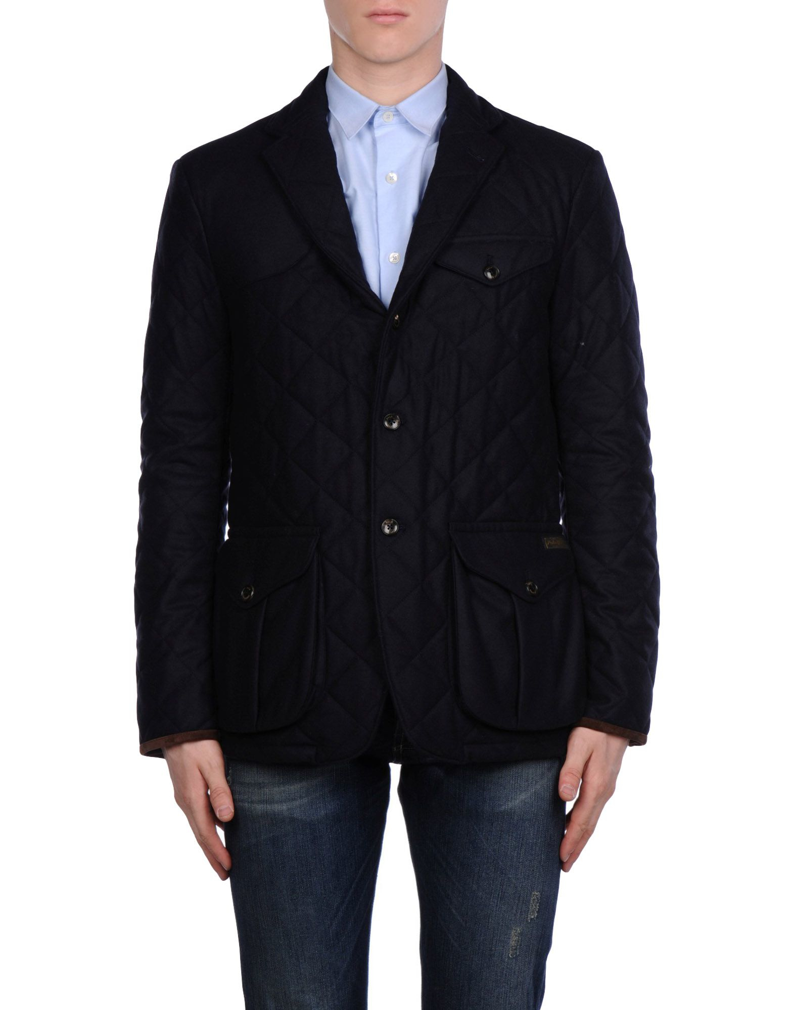 polo ralph lauren blazer in blue for men dark blue lyst. Black Bedroom Furniture Sets. Home Design Ideas