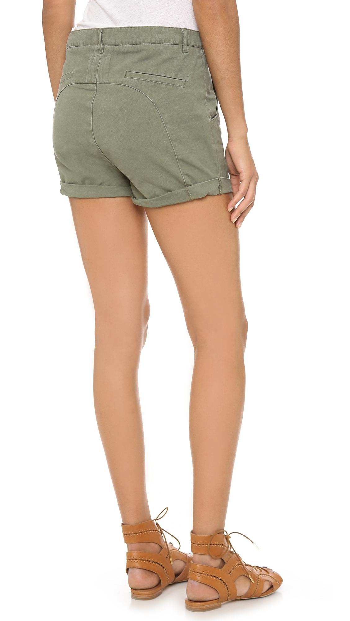 lyst one teaspoon captain wilde shorts khaki in natural. Black Bedroom Furniture Sets. Home Design Ideas
