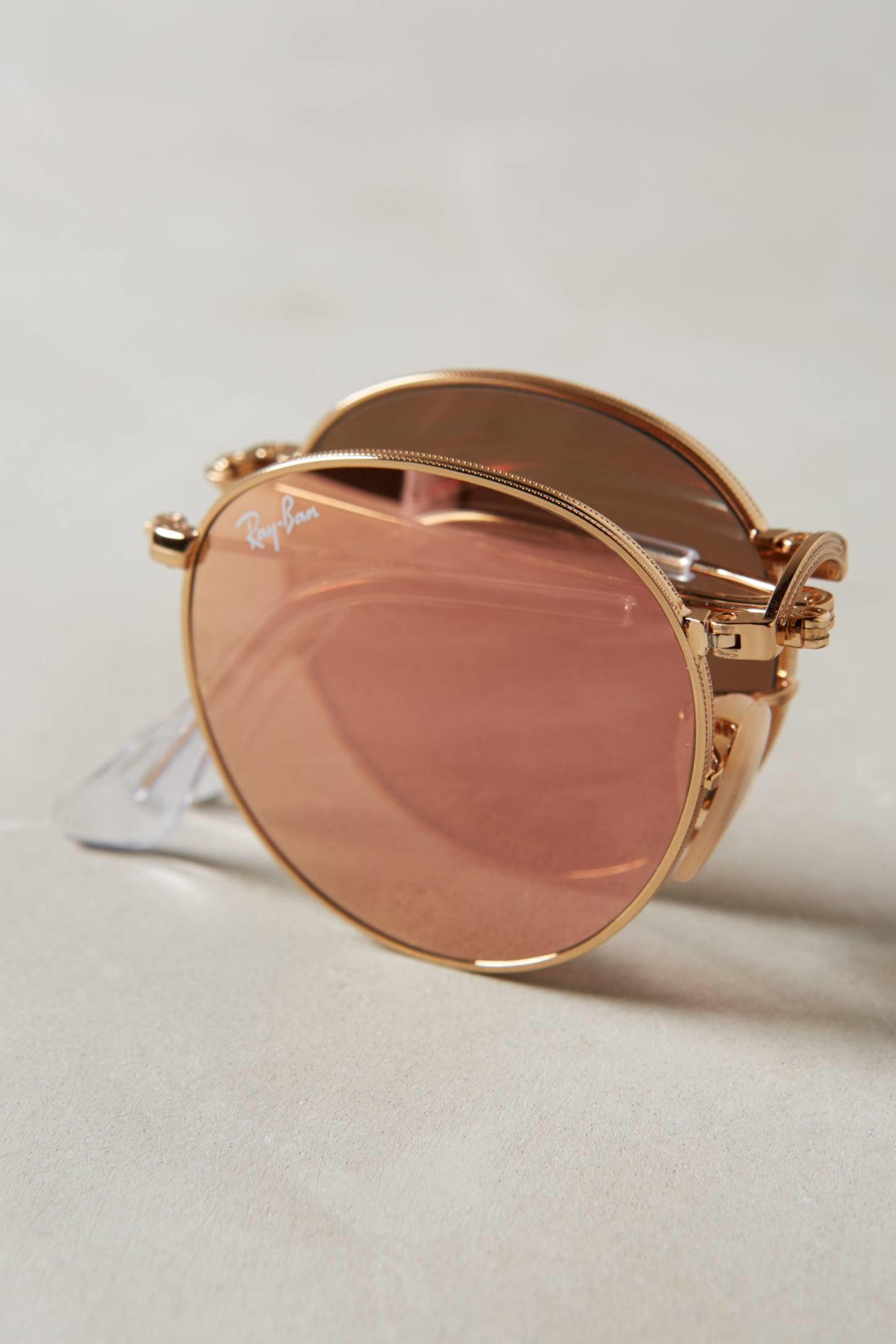 ray ban round folding frame sunglasses  gallery