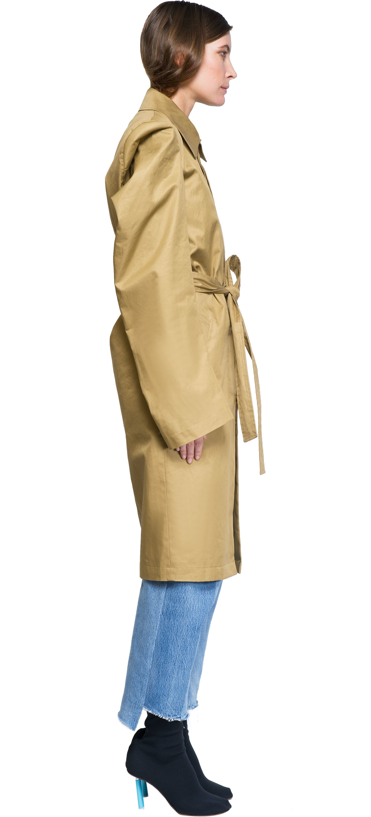 Lyst Vetements Trench Coat In Natural