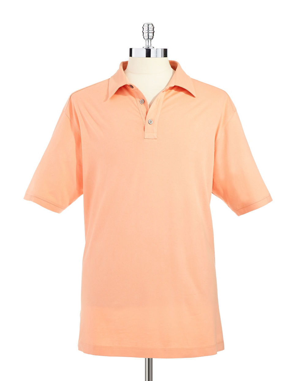 Tommy bahama palm cove spectator polo shirt in orange for for Tommy bahama florida shirt