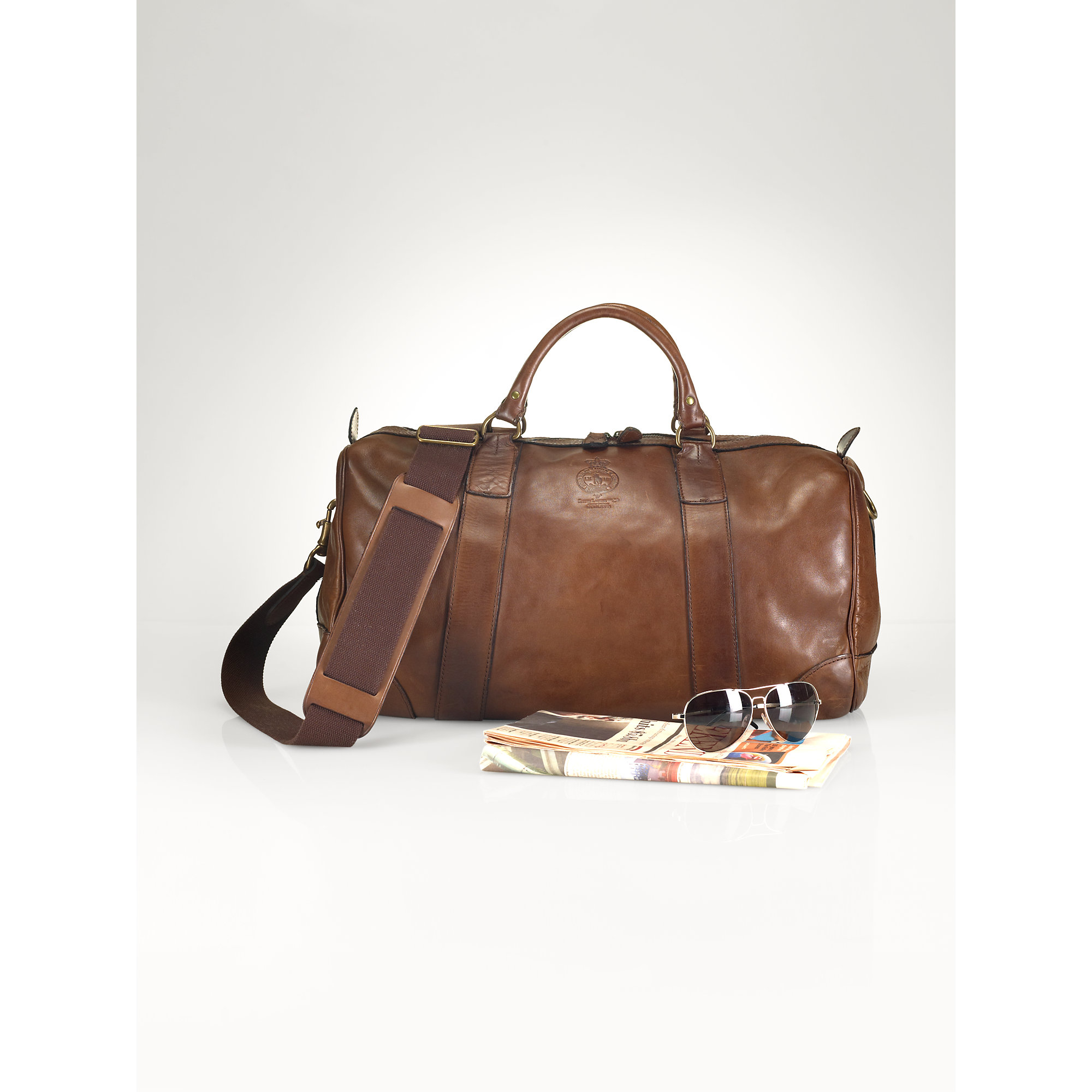Lyst - Polo Ralph Lauren Leather Duffel Bag in Brown for Men 3cc88d40c5