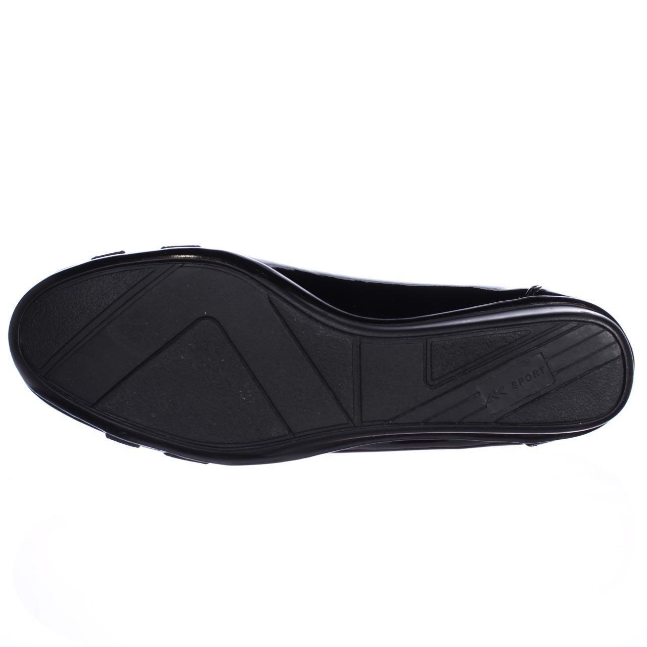 klein sport definitely patent wedge pumps in black lyst